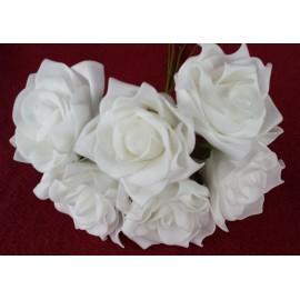 Ružice poliform 6kom bijela