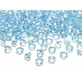 Konfeti Dijamant svj. plavi, 20mm, 10 kom
