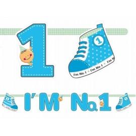 """Natpis """"I'm No 1"""" plavi"""