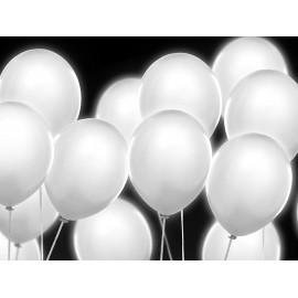 Led baloni bijeli, 27 cm, 5 komada u paketu